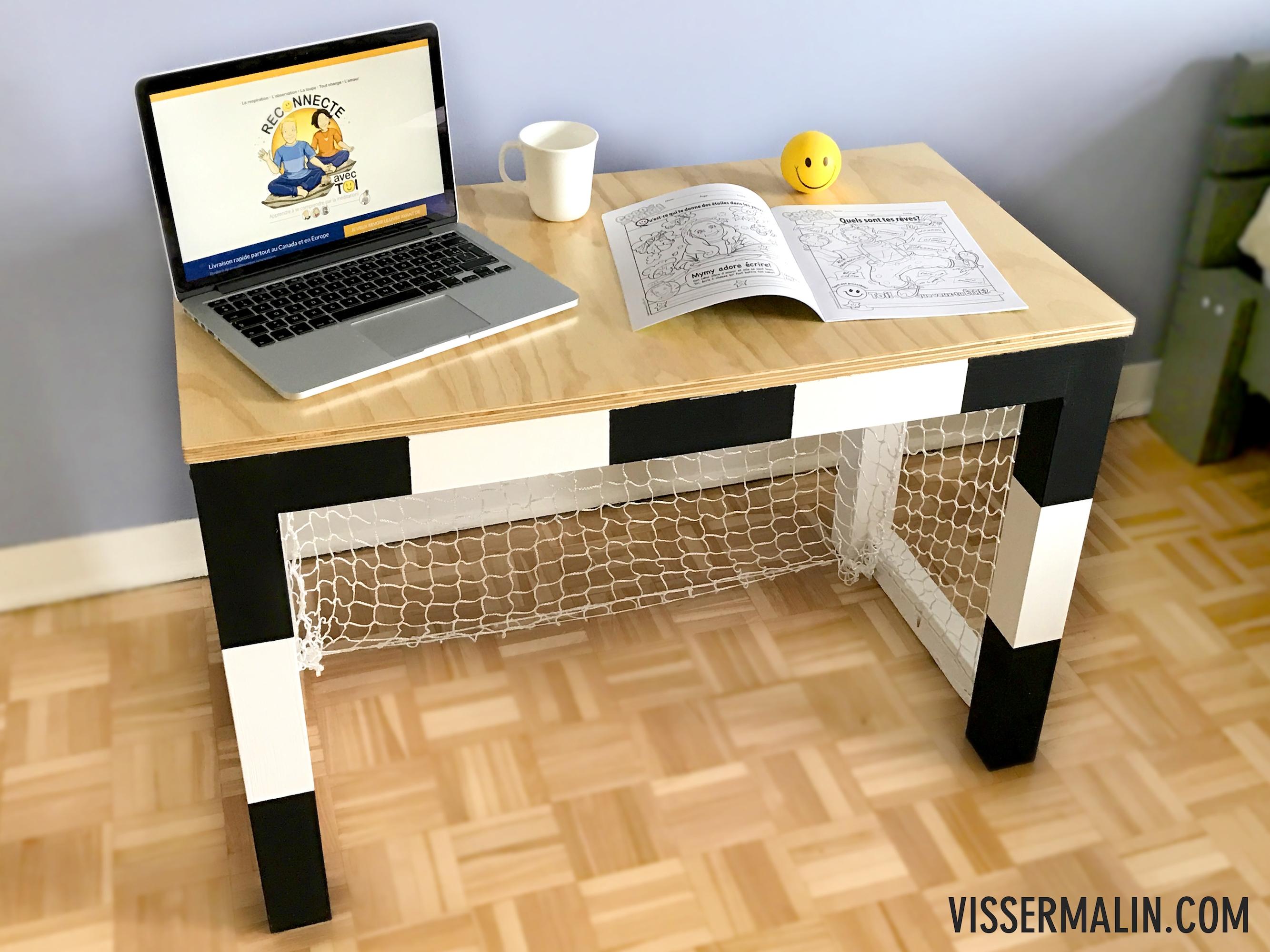 Comment fabriquer une bureau en cage de foot VisserMalin