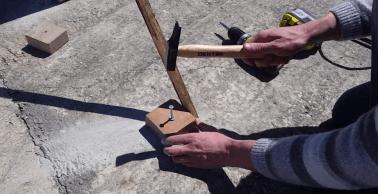 Contreventer les poteaux 2