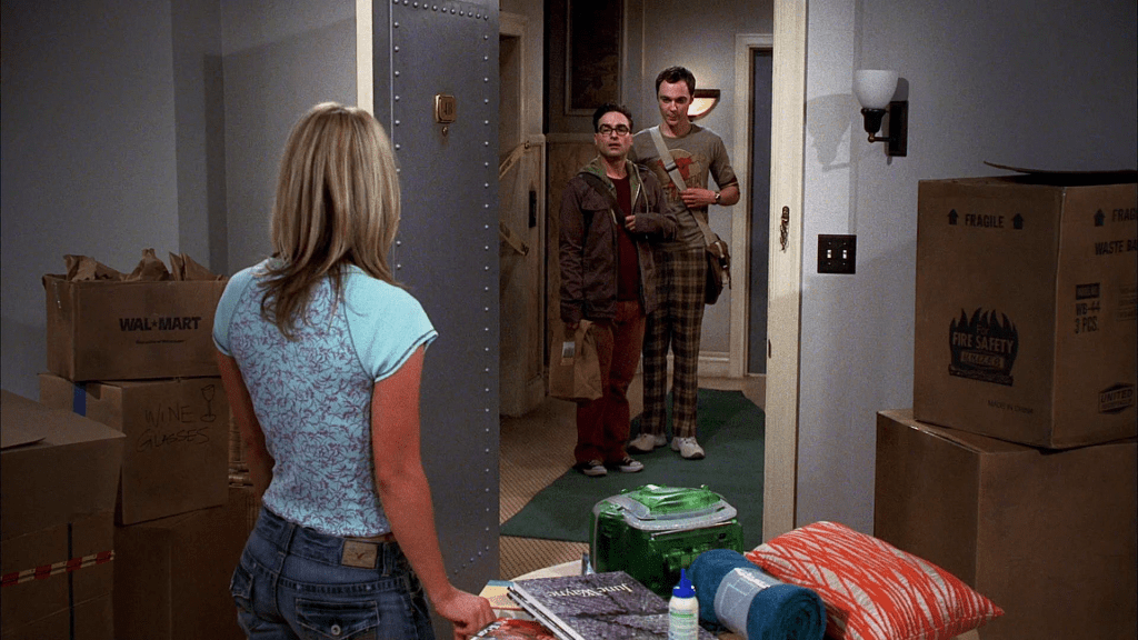 Penny meets Sheldon and Leonard in Rewriting Characters: The Big Bang Theory.