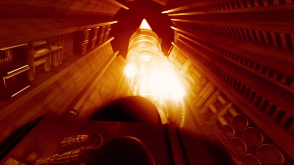 Scene showing ground based laser weapon at full power in film Deadly Skies aka Force of Impact (2006)
