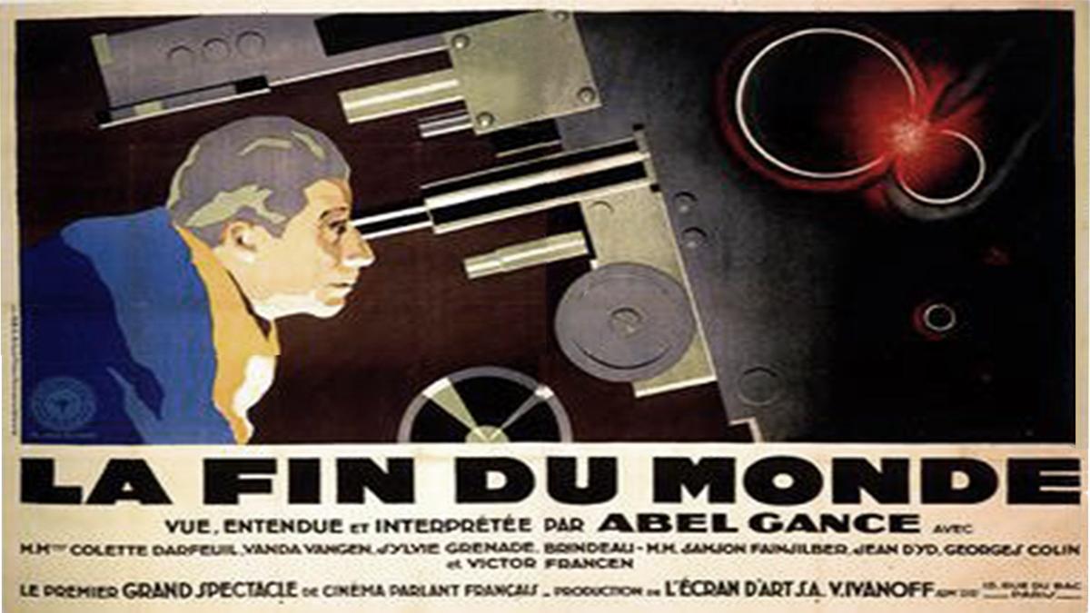 Poster for the film La Fin due Monde (1931)