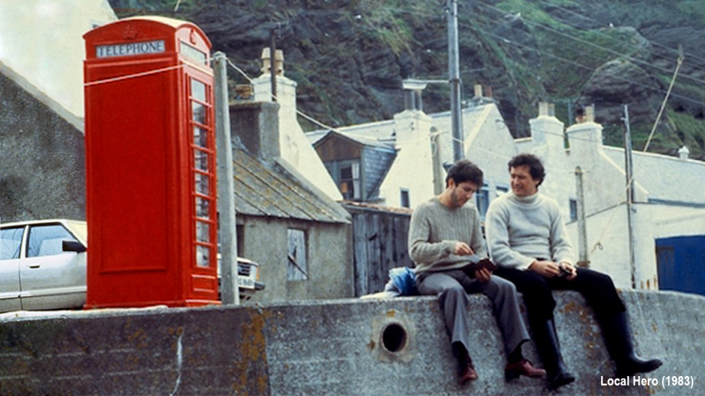 Local Hero (1983) - Ferness and the red telephone box