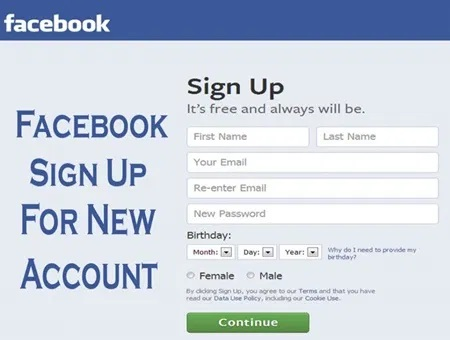 Facebook Sign Up Online - How To Create a Facebook Account
