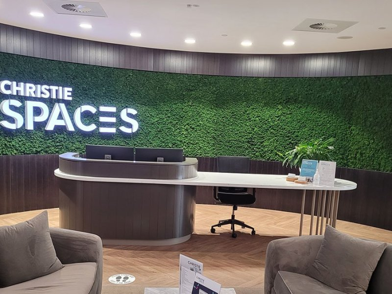 christie spaces moss wall