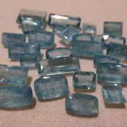 Aquamarine faceted Zambia