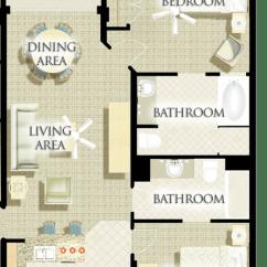 Hideaway Sofa Bed Used And Loveseat For Sale Three-bedroom Lockoff Villa - Harborside Resort At Atlantis