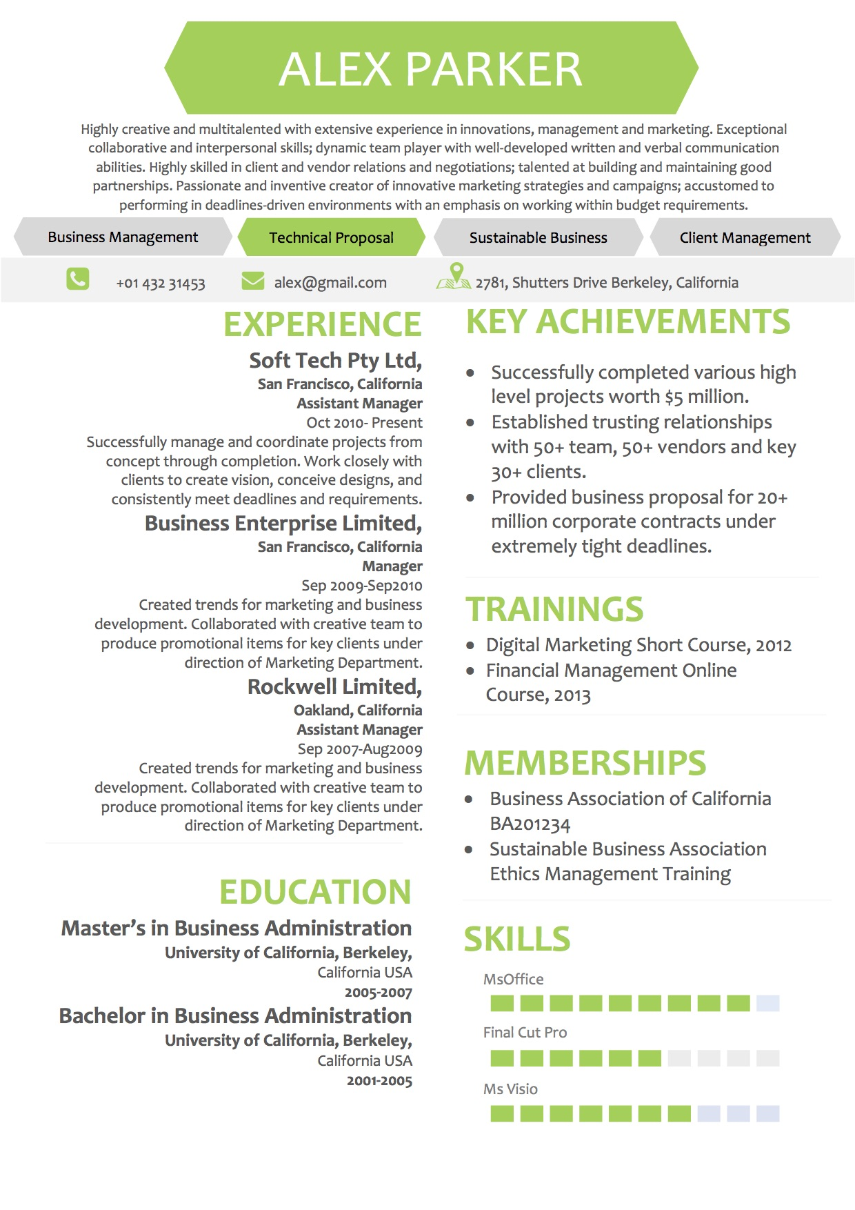 Simple Minimalist Resume Microsoft Word Template
