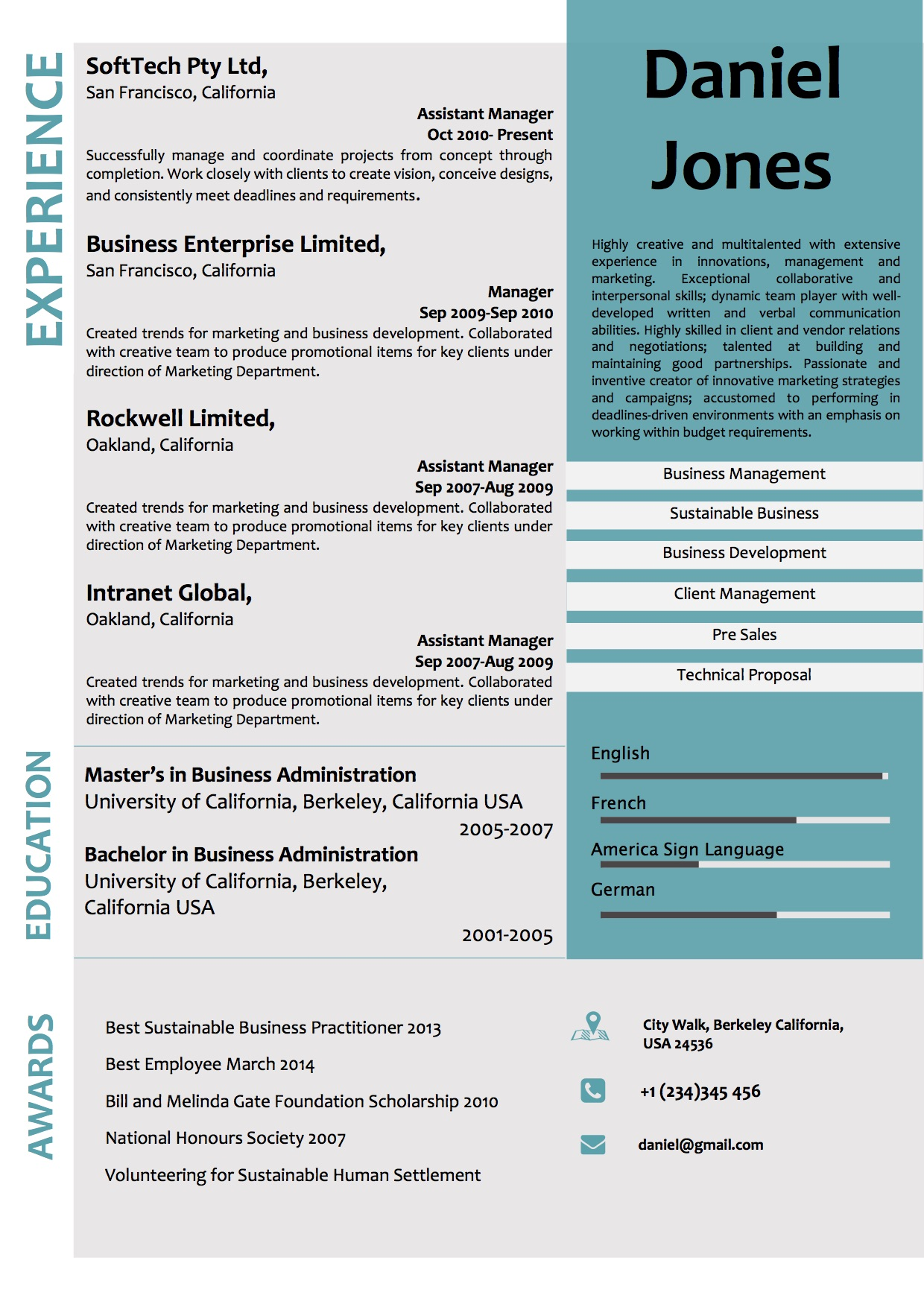 Corporate Resume Examples Creative Corporate Microsoft Word Resume Template Vista