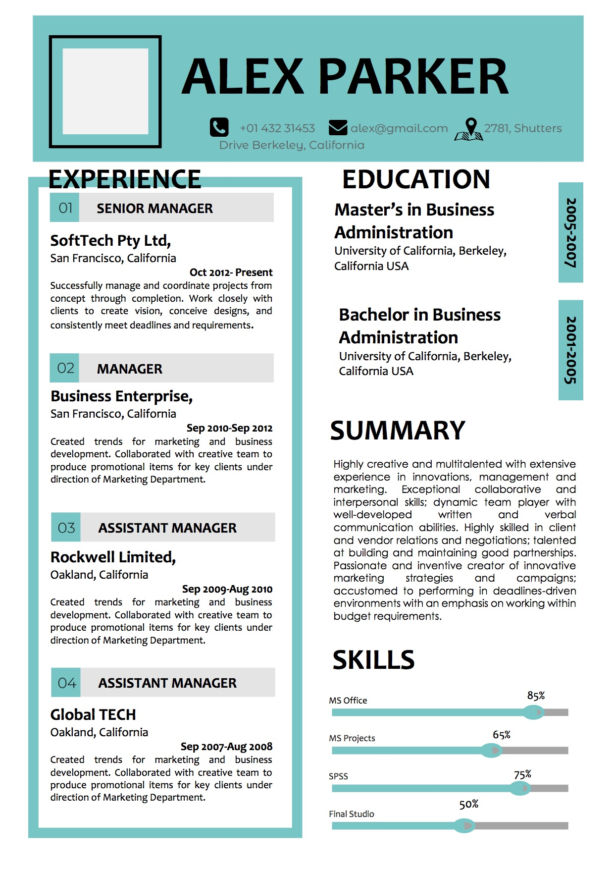Corporate Resume Curriculum Vitae Design Template Vista Resume