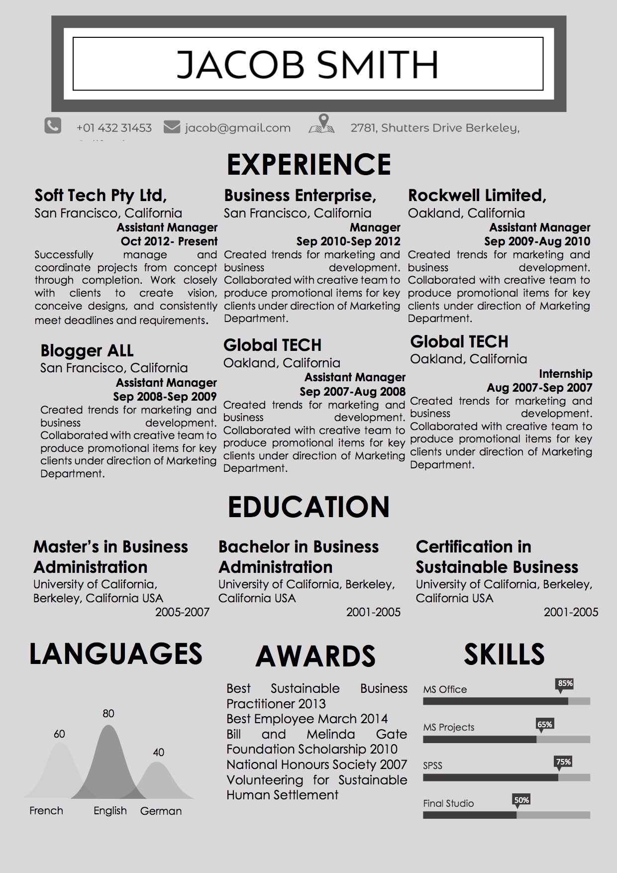 newspaper style word resume template