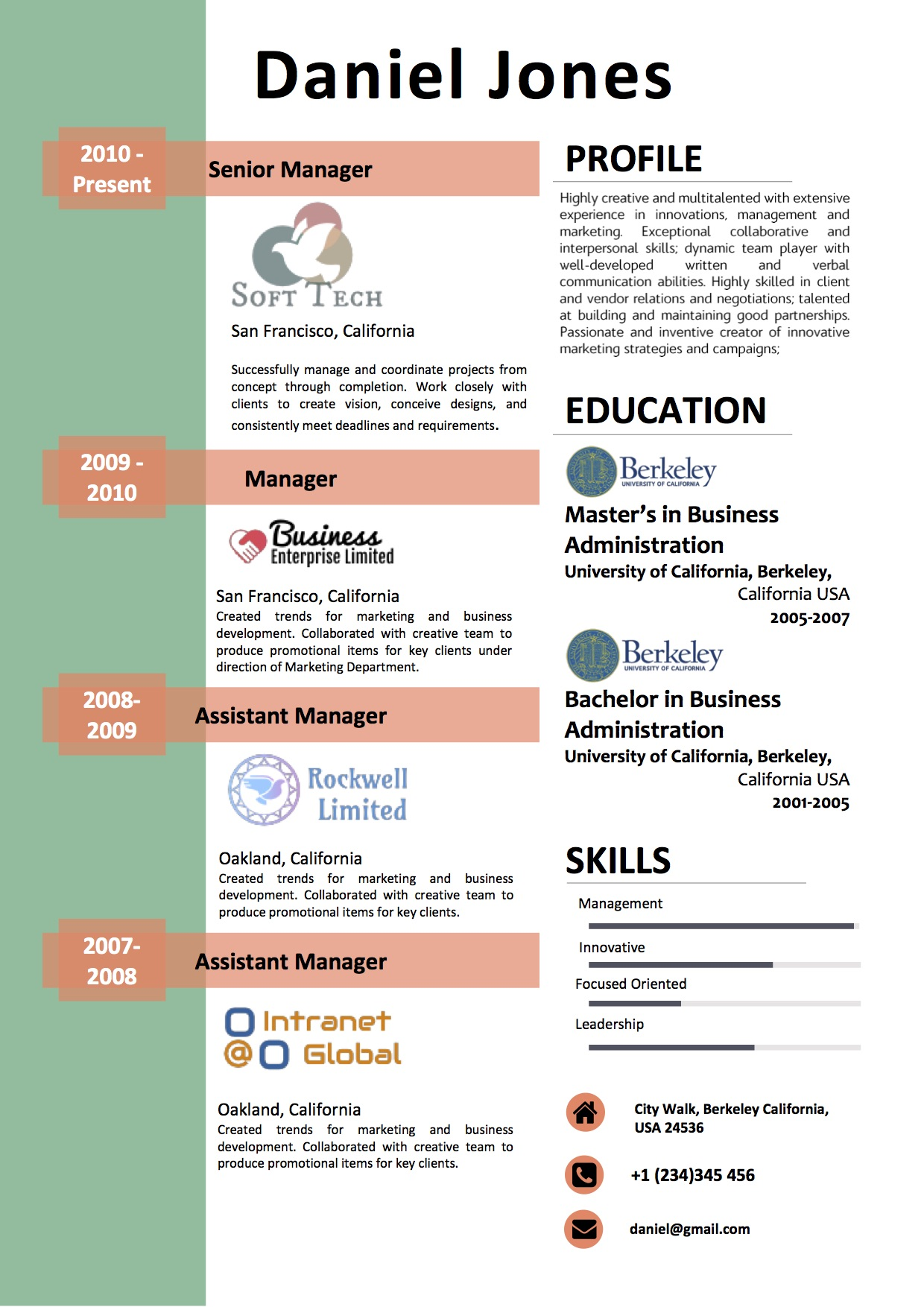 experience_highlight_professional_modern_resume