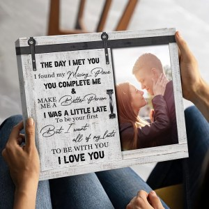 Gift For Couple Anniversary The Day I Met You I Found My Missing Piece Canvas H0