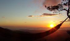 hammock sunset from san ramon costa rica