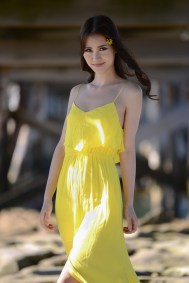 Outdoor Portrait of Model Serena Shen