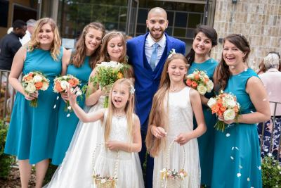 The Couple With The Bridesmaids