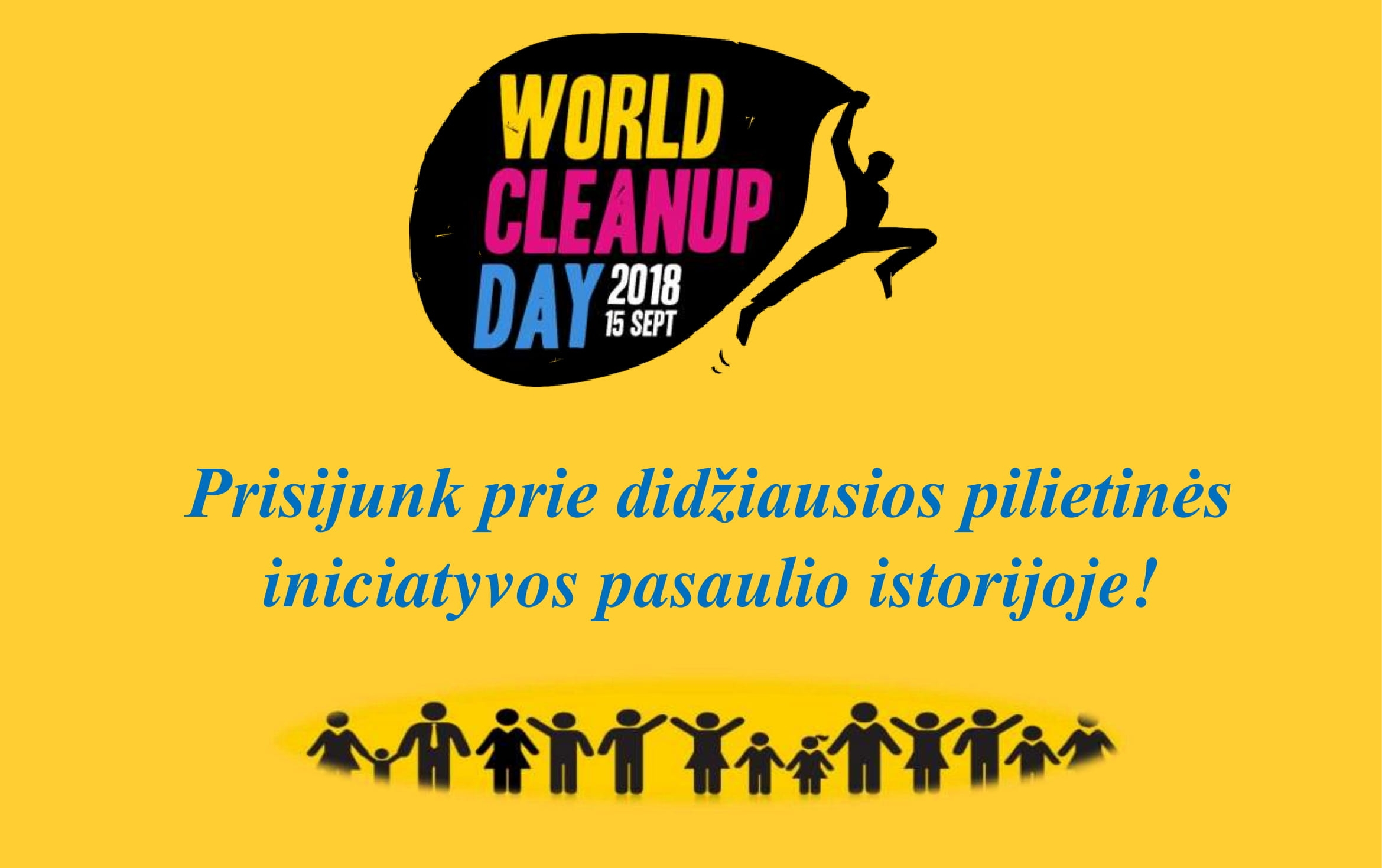 Prisijunkime prie World Cleanup Day