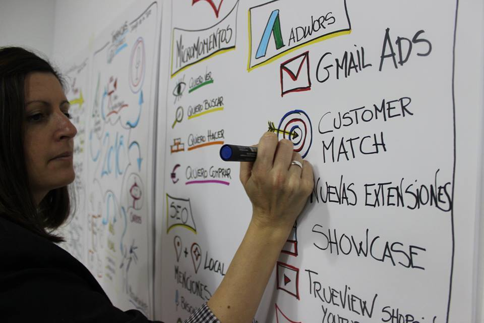 Ana Sanz Belsa, facilitatrice visuelle certifiée (Madrid)