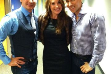 Joe and I with QVC's Courtney Cason (wearing a VT Luxe Infinity Scarf!)