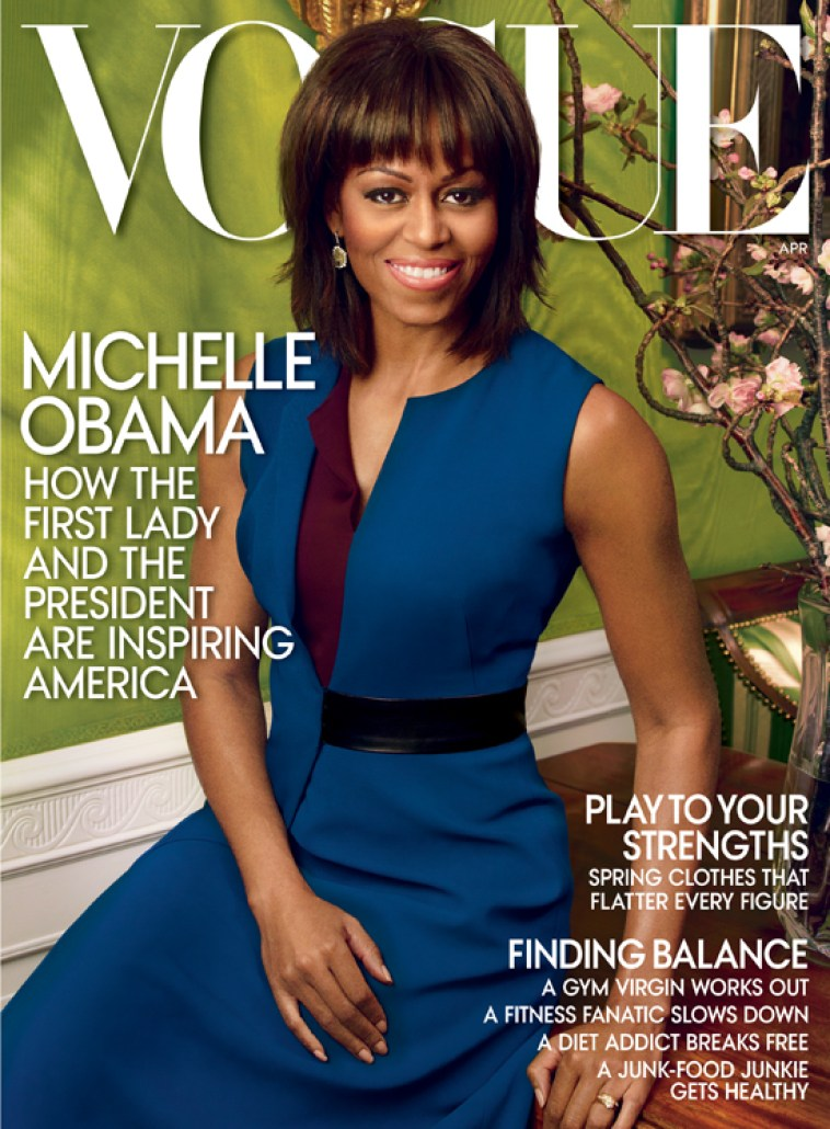 Michelle Obama wearing Kimberly McDonald on Vogue US April 2013 Cover