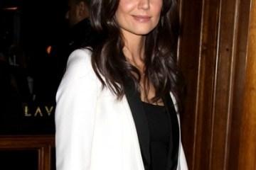 Katie Holmes white tuxedo jacket