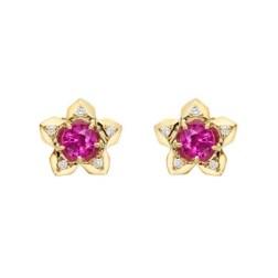 "1. Paolo Costagli ""Brillante"" Ruby & Diamond Stud Earrings"