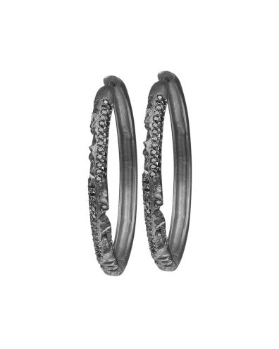 Azature Adamande Diamond Hoop Earrings