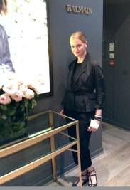 Lisa Marie at Balmain showroom