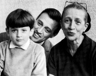Diana Vreeland with her son, Frederick, and her grandson Alexander