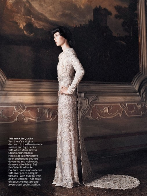 Valentino gown in Vogue US September 2013 | Photo by David Sims