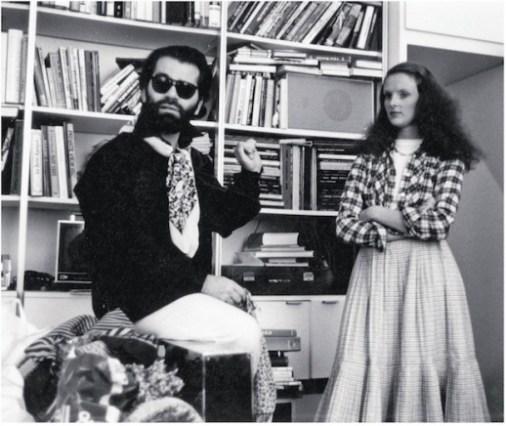 Grace Coddington and Karl Lagerfeld, 1974