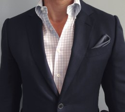 Tom Ford Blazer, Ascot Chang Shirt, Charvet Pocket Square