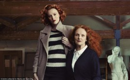 Model Karen Elson and Grace Coddington in Marks & Spencer ad campaign by Annie Leibovitz, 2013