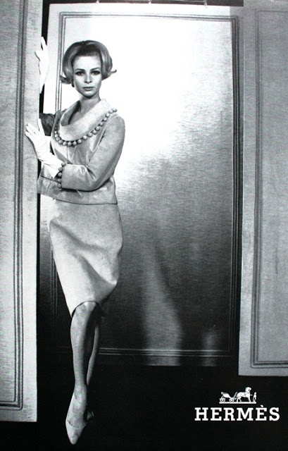 Deux-pièces de Hermès, L'Officiel March 1966- photo by Robert Laurent. Deux-pièces de Hermès, L'Officiel March 1966- photo by Robert Laurent