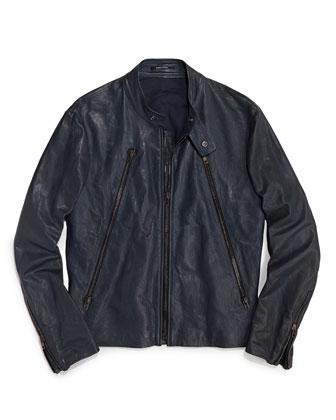 7. Maison Martin MargielaLeather Motorcycle Jacket
