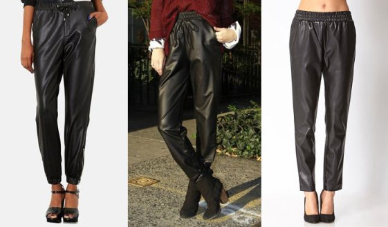 Leather-Jogging-Pants