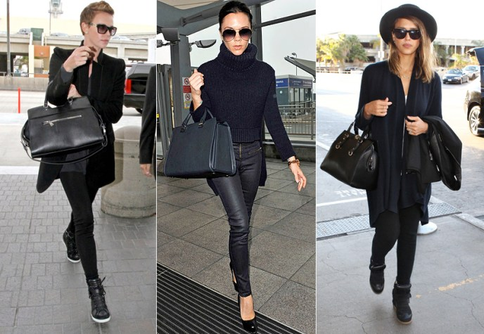 Airport Style: Charlize Theron, Victoria Beckham, Jessica Alba
