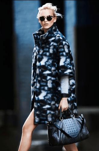 5. Club Monaco Naomi Patterned Wool Coat