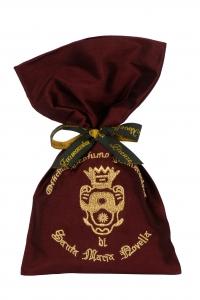 4. Santa Maria NovellaPot Pourri Silk Sachet Bordeaux