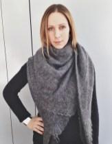 Barrow & Grove Cashmere Sweater, H&M Skinny Jeans, Orenburg Shawl, Mata Traders Cuff
