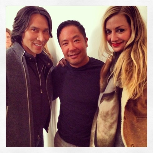 Jesse and Lisa Marie with Derek Lam