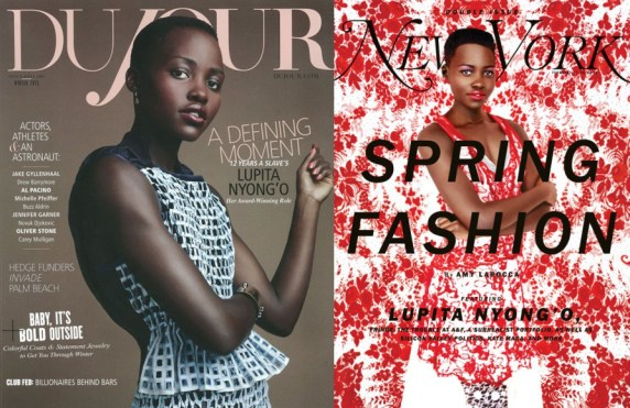 Lupita Nyong'o on the covers of Du Jour and New York Magazine