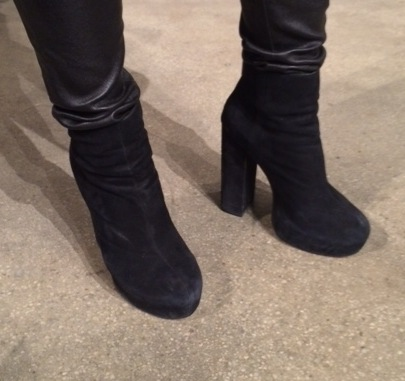 Helmut Lang leather leggings, Prada boots