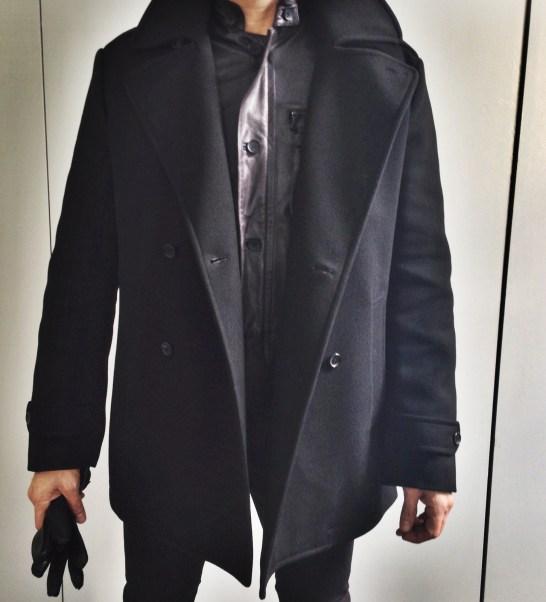 Simon Spurr Coat, Black Levi's Jeans