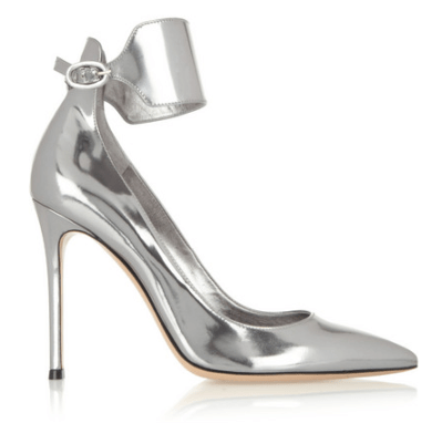 Gianvito Rossi Metallic Leather Pumps with a Strap