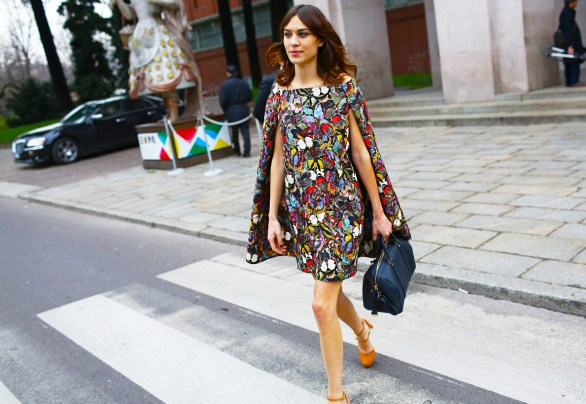 Alexa Chung at Milan Fashion Week | Photo by Tommy Ton