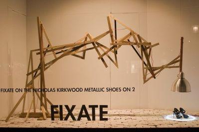 Nicholas Kirkwood window at Selfrdiges