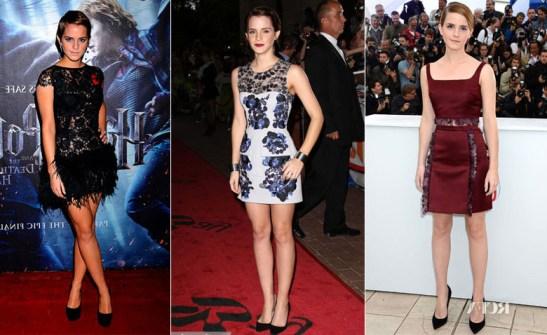 Emma Watson in 2010, 2013 & 2013