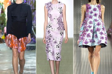 Floral Trend: Dior, Giambattista Valli and Mary Katrantzou Spring 2014