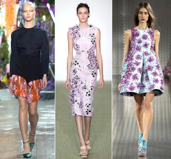 Floral Trend: Dior, Giambattista Valli and Mary Katrantzou Spring 2014