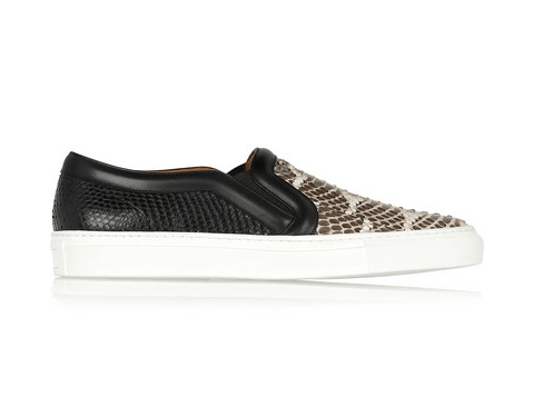 Givenchy Skate shoes in python and mangrove snake with leather trim